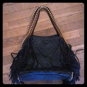 Big Buddha Leather Tassel Bag